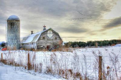 Art Print featuring the digital art Winter Days In Vermont by Sharon Batdorf