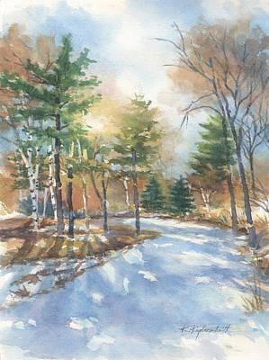 Painting - Winter Departs by Kerry Kupferschmidt