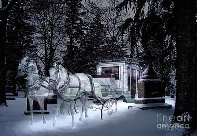 Haunted Digital Art - Winter Departure   by Tom Straub