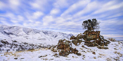 Hill Photograph - Winter Desert by Chad Dutson