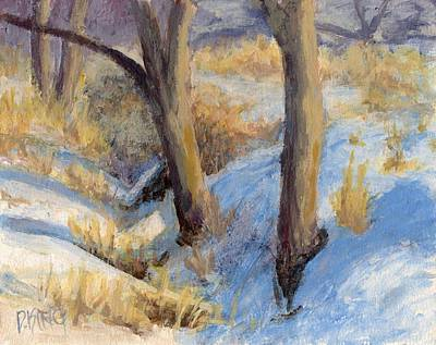 Painting - Winter Ditch by David King
