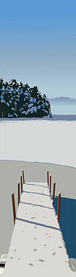 Wall Art - Painting - Winter Dock by Marian Federspiel