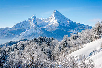 Austria Photograph - Winter Dream On A Crystal Clear Day by JR Photography