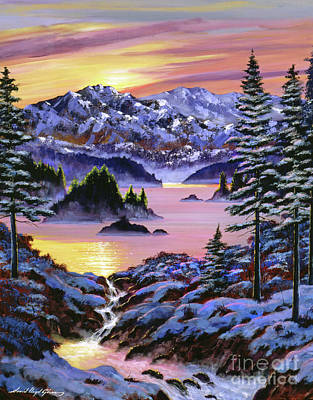 Painting - Winter Dreams by David Lloyd Glover
