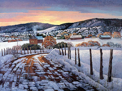 Snow Scene Painting - Winter Dreams by Donna Clair