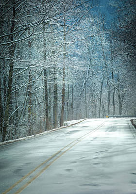 Winter Road Scenes Photograph - Winter Dreams by Karen Wiles