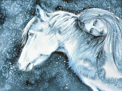 Painting - Winter Dreams by Zaira Dzhaubaeva