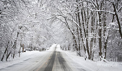 Giuseppe Cristiano - Winter Drive on Highway A by Ricky L Jones