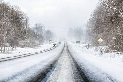 Photograph - Winter Driving In Canada by Tatiana Travelways