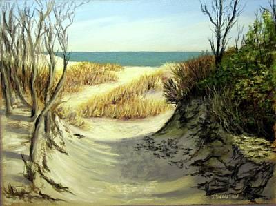 Winter Dunes Art Print by Joan Swanson
