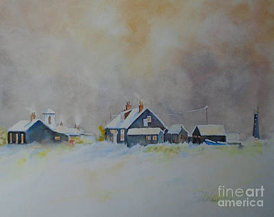 Painting - Winter Dungeness by Beatrice Cloake