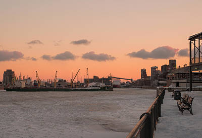 Montreal Photograph - Winter Dusk In Old Port by Pierre D'Amours