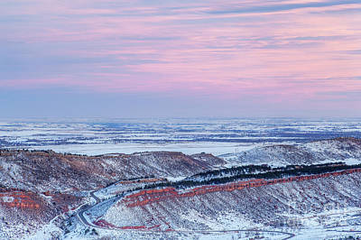 Photograph - winter dusk over Colorado by Marek Uliasz
