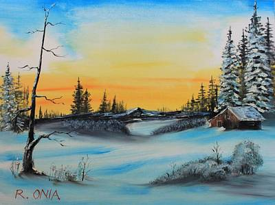 Painting - Winter Dusk by Remegio Onia