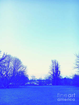 Park Scene Photograph - Winter Dusk by Tom Gowanlock