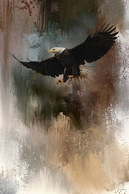 Eagle In Flight Photograph - Winter Eagle 1 by Jai Johnson
