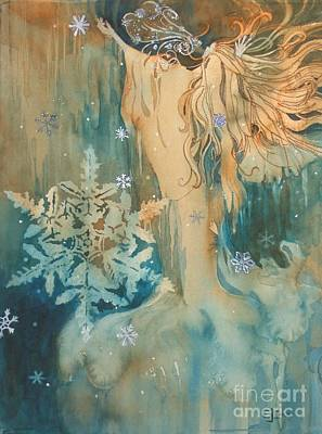 Winter Personified Painting - Winter by Elizabeth Carr