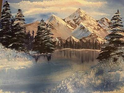 Bob Ross Painting - Winter Escape by Angel Pelillo