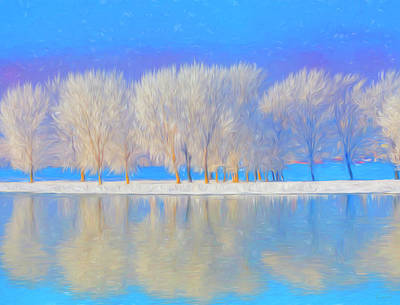 Winter Esplanade Painting Boston, Massachusetts Art Print by James Charles