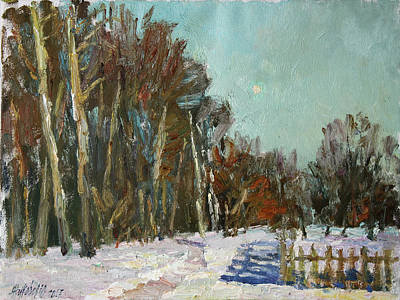 Painting - Winter Etude In The Trigorskoye by Juliya Zhukova