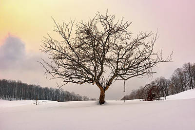 Photograph - Winter Evening At Cloudland Farm by Rick Berk