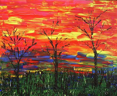 Winter Evening Art Print by Erik Tanghe