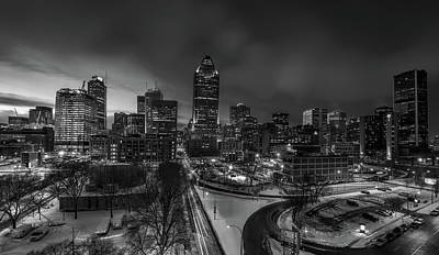 Winter Evening In Montreal Art Print by Maxim Polishtkhouk