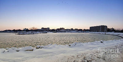 Photograph - Winter Evening In Racine by Ricky L Jones
