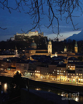 Photograph - winter evening in Salzburg 1 by Rudi Prott