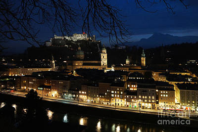Photograph - winter evening in Salzburg 2 by Rudi Prott
