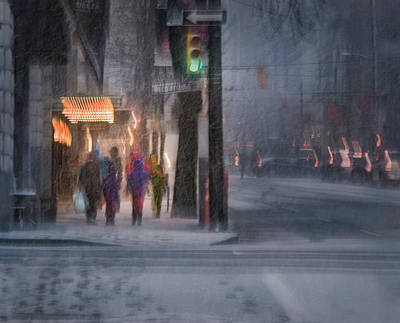 Photograph - Winter Evening In The City by Peter V Quenter