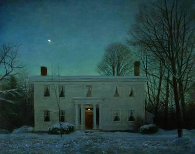 Painting - Winter Evening, Lincklaen Street by Wayne Daniels