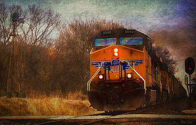 Photograph - Winter Evening Union Pacific Train by Anna Louise