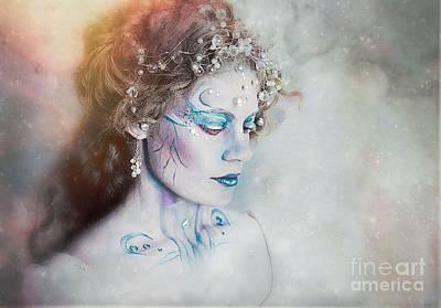 Fae Art Mixed Media - Winter Fae by Spokenin RED