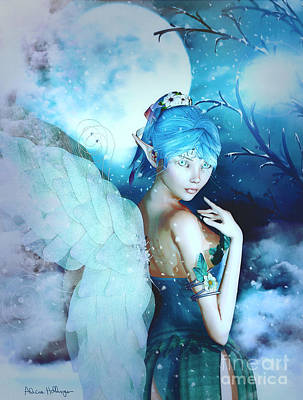 Digital Art - Winter Fairy In The Mist by Alicia Hollinger