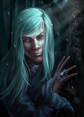Digital Art - Winter Fairy by Stefanie Odendahl