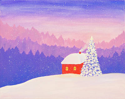 Painting - Winter Fairy Tale by Iryna Goodall
