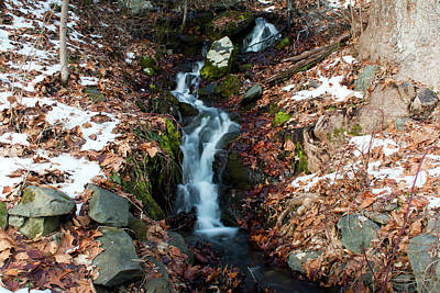 Photograph - Winter Falls At Franny Reese by Jeff Severson