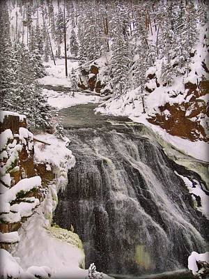 Photograph - Winter Falls by Leah Grunzke
