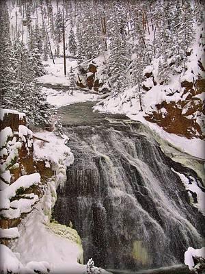 Photograph - Winter Falls by Leah Grunzke
