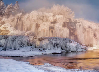 Photograph - Winter Falls by Leland D Howard