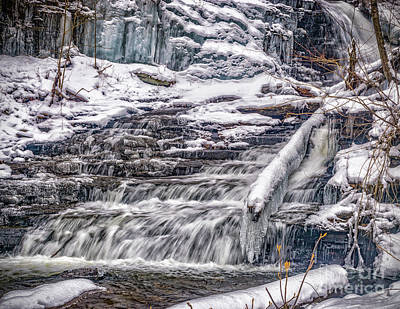 Photograph - Winter Falls Trail by Nick Zelinsky