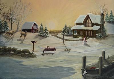 Winter Farm 1 Art Print by Kimberly Benedict