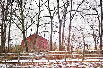 Photograph - Winter Farm by JAMART Photography