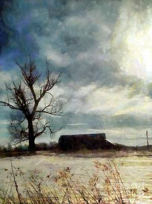 Photograph - Winter Farm by Janine Riley
