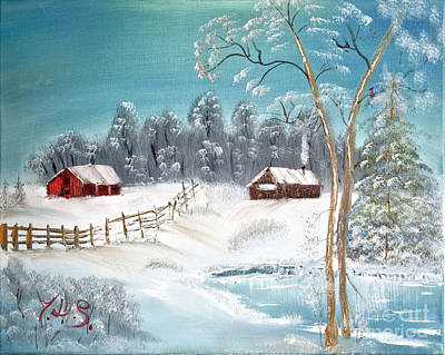 Painting - Winter Farm by Joseph Summa