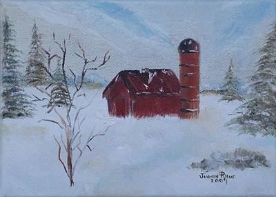 Painting - Winter Farm by Judith Rhue
