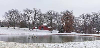 Photograph - Winter Farm Pano by Jennifer White