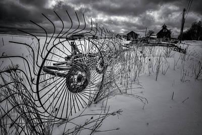 Digital Art - Winter Farm by Patrick Groleau