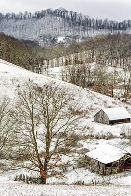 Photograph - Winter Farm Scene by Thomas R Fletcher